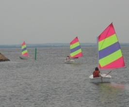 Glassbåtarna vid rundningsmärkena
