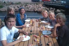 Jonas 12 år på Bryggan