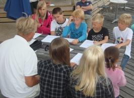 Optimist kurs 2 samlas på Bryggan