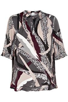 Chen blouse elbow - Chen blouse elbow grå/vin S