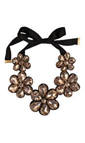 Sparkling Flower Halsband Gold