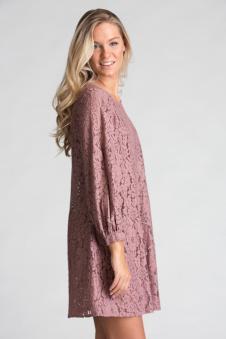 Spetsklänning - Spetsklänning rosa S
