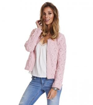 Harmony Knitted Jacket - Harmony knitted jacket pink 1