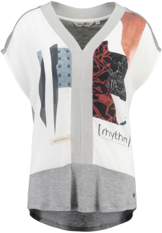 T Shirt Garcia - T shirt garcia vit/grå S