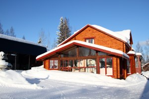 Vårat hus i vintertid!