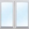 Attefallshus 25 m² (15 kvm gäststuga - 10 kvm förråd) - Extra fönster vitmålat 100x100cm 2-lufts 3-glas.