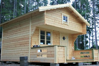 Loftstuga 15 m² - Oisolerad