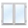 Härbre 25 m² + 25 m² (50m²) + Balkong - Extra fönster vitmålat 100x100cm 2-lufts 3-glas