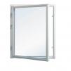 Härbre 25 m² + 25 m² (50m²) + Balkong - Extra fönster vitmålat 100x100cm 1-lufts 3-glas