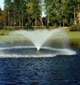 Flytande fontän , Oase flytande fontän maxi, dammprodukter till stora dammar
