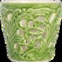 Mateus- Lace Candle holder 7 cm - mateus lace candle holder 7cm green