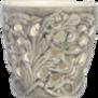Mateus- Lace Candle holder 7 cm - mateus lace candle holder 7cm  grey