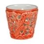 Mateus- Lace Candle holder 7 cm - mateus lace candle holder 7cm  orange