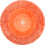 Mateus- Bubble Round Platter 42 cm - mateus bubble platter 42 cm orange
