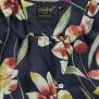 Cashe Design- Flower dress marinblå