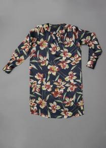 Cashe Design- Flower dress marinblå - Cashe Design flower dress marinblå xs