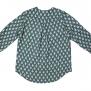 Cashe Design- Flower blouse green