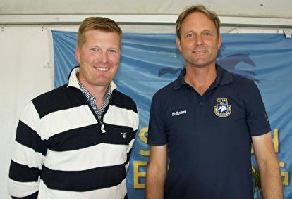 Landslagsryttaren Niklas Lindbäck till vänster var med på Fredriks föreläsning och berättade om sina erfarenheter.