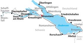Bodensjön Runt ca 280 km (Klicka för större bild)