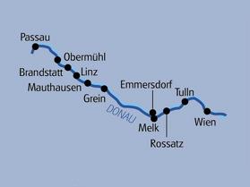 Passau-Wien 280  km. (Klicka för större bild)