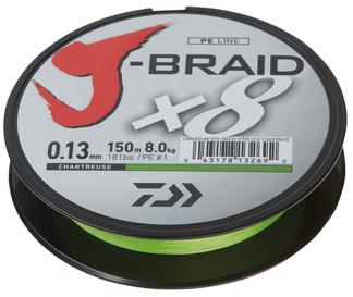 Daiwa J-Braid - 0,16mm 10kg