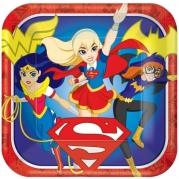 DC heroes tallrik 8st 42kr