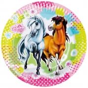 Papperstallrikar Hästar 23cm 8p 23kr