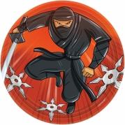 Papperstallrikar Ninja 17,8cm 8p 22kr