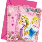 Inbjudningar Disney Prinsessor 6p 49kr