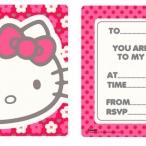 Inbjudningar Hello Kitty 6p 39kr