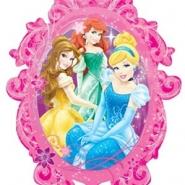 Folieballong Supershape Disney prinsessor 63x78cm 85kr