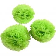 Pompom Grön 3st  20,24,30cm 44kr