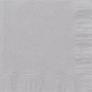 Servetter 2-lags 20p Silver 15kr