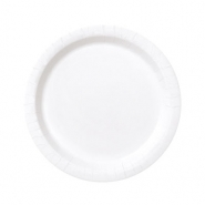 Papperstallrikar 17,1cm 8p Bright white 15kr