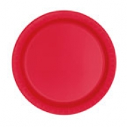 Papperstallrikar 17,1cm 8p Ruby red 15kr