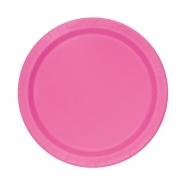Papperstallrikar 17,1cm 8p Hot pink 15kr