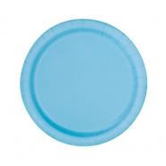 Papperstallrikar 17,1cm 8p Powder blue 15kr