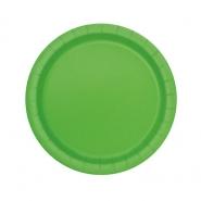 Papperstallrikar 17,1cm 8p Lime 15kr