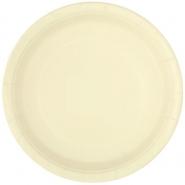 Papperstallrikar 22,9 cm 8p Ivory 18kr