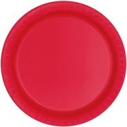 Papperstallrikar 22,9 cm 8p Ruby red 18kr