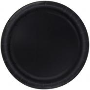 Papperstallrikar 22,9 cm 8p Black 18kr