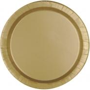 Papperstallrikar 22,9 cm 8p Gold 18kr