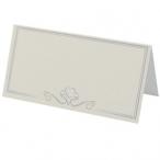 Placeringskort 95x47mm 50p Ivory 20kr