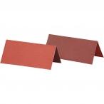 Placeringskort stl.90x40mm 250g 2sidig Röd eller Vinröd 25st 24kr