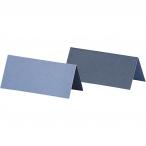 Placeringskort stl.90x40mm 250g 2sidig Ljusblå eller Mörkblå 25st 24kr