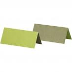 Placeringskort stl.90x40mm 250g 2sidig Lime eller Mörkgrön 25st 24kr