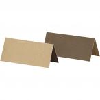Placeringskort stl.90x40mm 250g 2sidig Sand eller Brun 25st 24kr