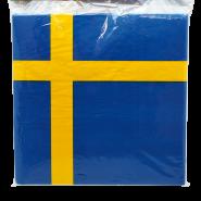 Servetter Sveriges flagga 20p 25kr