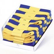 Sidenband gulblå 1cmx5m 12kr eller 2,5cmx3m 15kr