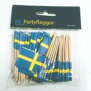 Partyflaggor tandpetare 50st 24kr